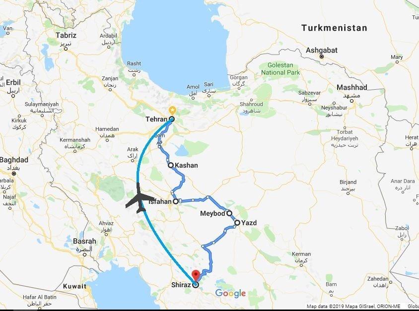Iran Cradle of History map