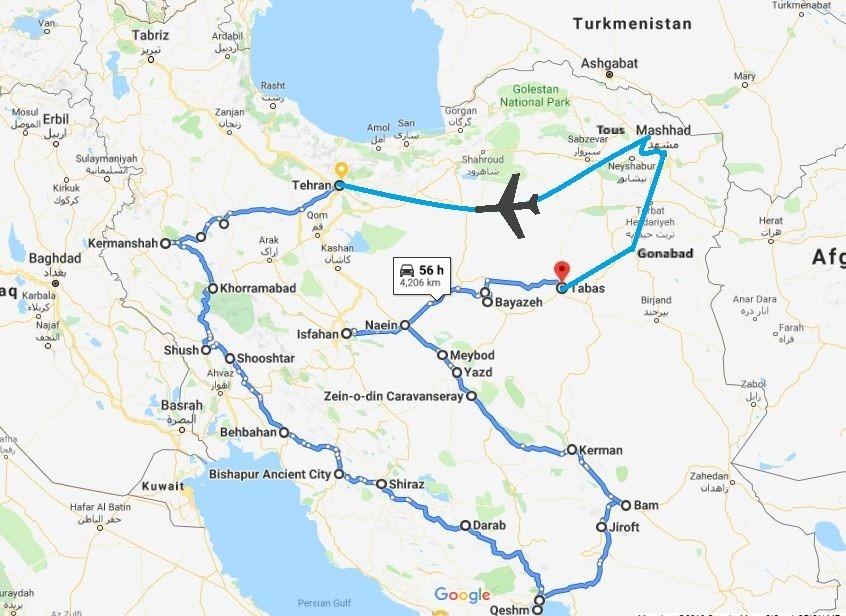 Iran Circle map